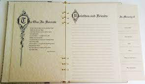 funeral guest sign in book dakota memorial guest book funeral register book with a and