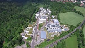 drone flying over the max planck institute for biophysical