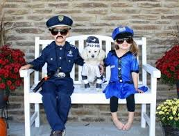 Cops Robbers Halloween Costumes Homemade Police Costume Ideas Kids Police Costumes