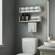 white bathroom shelves shelves ideas