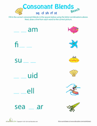 1st grade consonant blend worksheets education com