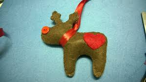 diy christmas ornaments reindeer felt christmas craft for kid
