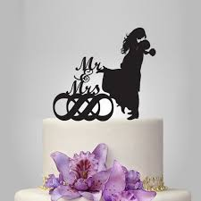 infinity cake topper and groom silhouette wedding cake topper infinity