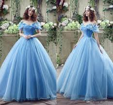Wedding Dresses Light Blue 2018 In Stock Princess Colored Wedding Dresses With Butterfly