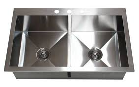 top mount stainless steel sink 36 stainless steel double bowl 50 50 topmount kitchen sink hte3622