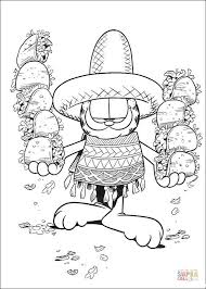 mexican food coloring page free printable coloring pages