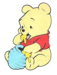 winnie pooh eating honey drawing