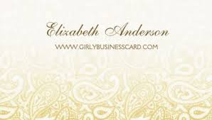 Ivory Business Cards Girly Damask Business Cards Page 1 Girly Business Cards