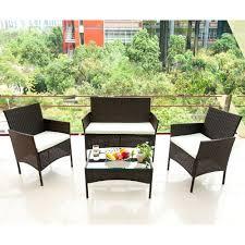 4 pc patio furniture sets outdoor garden rattan furniture sets