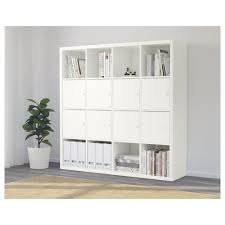 Ikea 4x4 Bookshelf by Kallax Shelving Unit With 8 Inserts White 147x147 Cm Ikea