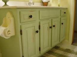 Mint Green Bathroom by Repainted And Distressed Bathroom Vanity My Style Home Decor