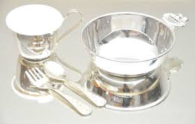 silver plated baby gifts sesame elmo silver plated cup bowl fork and spoon set baby