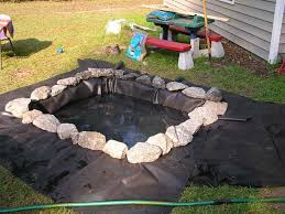 How To Make Backyard Pond by Outdoor Pond Four Green Feet
