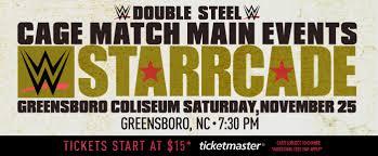 ticketmaster floor plan wwe live presents starrcade greensboro coliseum complex