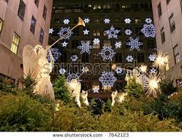 decorations rockefeller center nyc stock photo 7642129