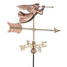 Mermaid Weathervanes Good Directions Americana Flag Cottage Weathervane With Roof Mount