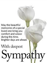 sympathy card brighter days are ahead sympathy card birthday greeting