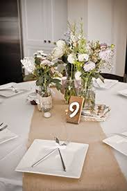burlap table runners rustic weddings or events 90x12