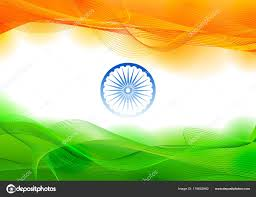 Green Day Flag Tricolor Banner With Indian Flag For 26th January Happy Republic
