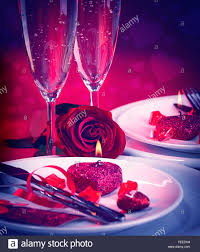 Romantic Table Settings Beautiful Still Life Of Romantic Dinner In Red Colors Festive