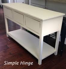 Long Entryway Table by Custom Entryway Table Simple Hinge Llc