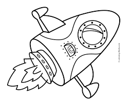rocket ship coloring page free coloring pages download space