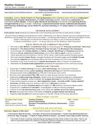 Facilitator Resume 4 Heather Training Social Media Resume Sample