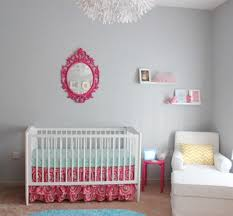 fuchsia pink really gives a baby u0027s nursery a bright look