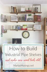 Industrial Pipe Bookcase How To Build Industrial Pipe Shelves And Make New Wood Look Old