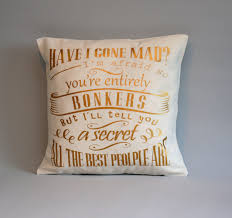 alice in wonderland pillow gold throw pillow cover have i