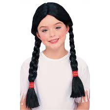 thanksgiving indian costume amazon com rubies native american wig with braids toys u0026 games