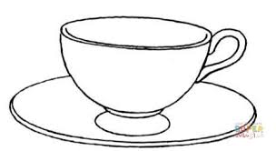 Cup And Saucer Coloring Page Free Printable Coloring Pages Cup Coloring Page
