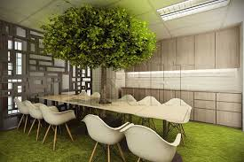 Infusing Nature To The Office Pantry To Ease The Eye Adding Quirky - Nature interior design ideas