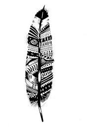 tribal feather print pattern variety implied texture