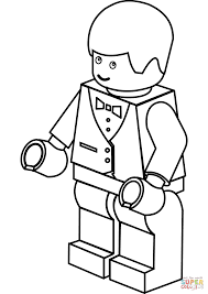 lego waiter coloring page free printable coloring pages