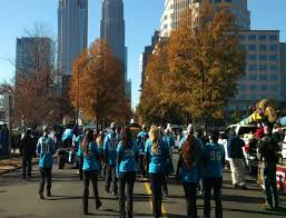 thanksgiving day parade lineup longtime panthers employee gene brown keep pounding drummers