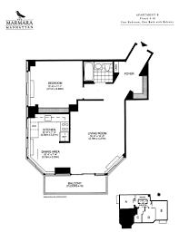 1 bedroom the marmara manhattan view floor plan