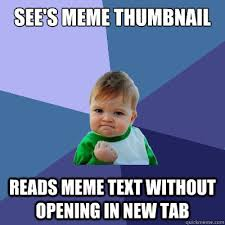 Meme Images Without Text - see s meme thumbnail reads meme text without opening in new tab
