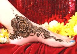 floral henna design artistic aim