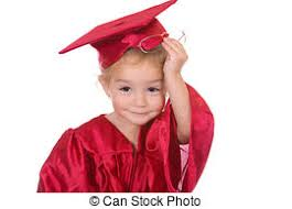 toddler cap and gown graduation kid boy in a graduation cap and gown stock