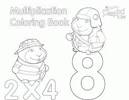 multiplication color pages coloring home