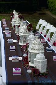 white lantern centerpieces moroccan table settings decor best wedding images on white lantern