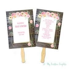 rustic wedding program fans wedding guest card diy rustic wedding advice card in burlap