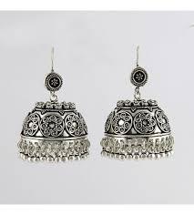 jhumka earring 925 sterling silver oxidized jhumka earring 10 discount sale