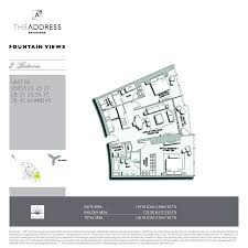 bay lake tower 2 bedroom floor plan floor plans the address fountain views downtown dubai by emaar