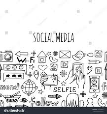 banner horizontal l social media sketch stock vector 342254999
