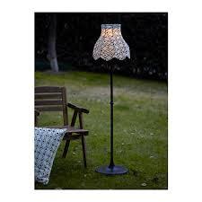 Solar Powered Outdoor Light Fixtures Ikea Solvinden Led Solar Powered Floor L Outdoor Lighting Black
