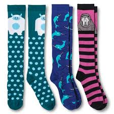 s knee high socks winter animals 3 pack xhilaration