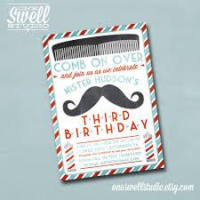 mustache invitations vintage barber shop mustache diy printable by oneswellstudio