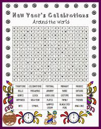 new year u0027s day traditions word search word search classroom